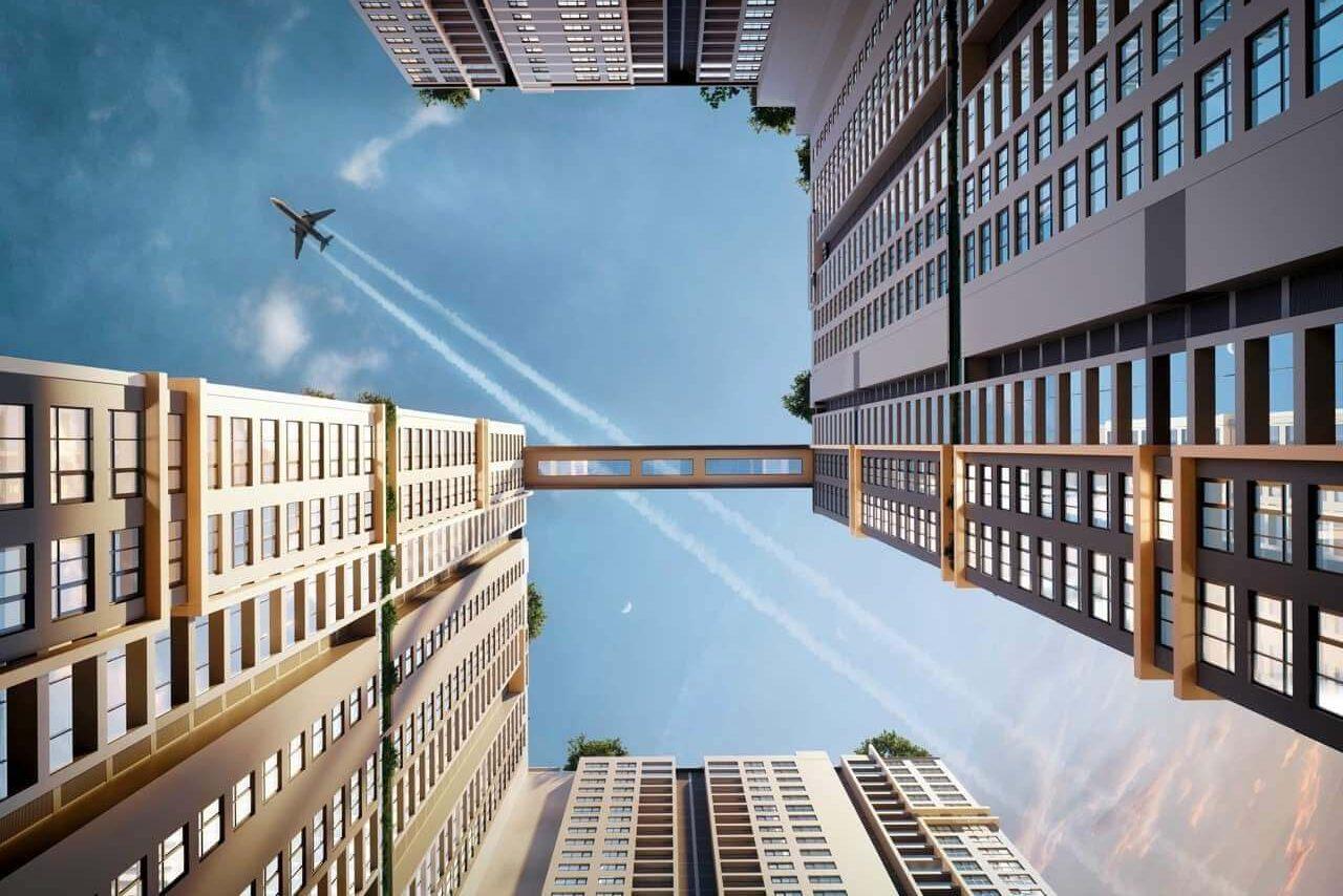 Với 2 block được nối liền bởi cầu không trung, HAPPY ONE - Central kiêu hãnh vươn lên ngay giữa trung tâm thành phố