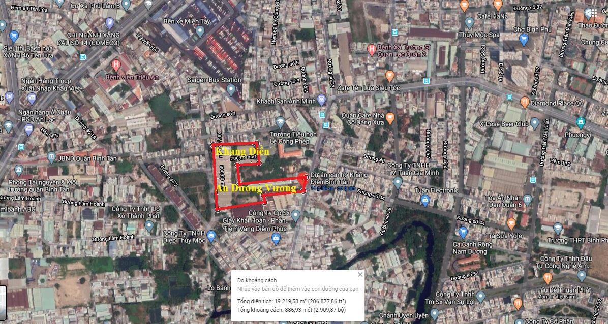 Vị trí căn hộ Khang Điền Bình Tân